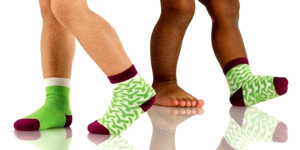 kids wearing socks