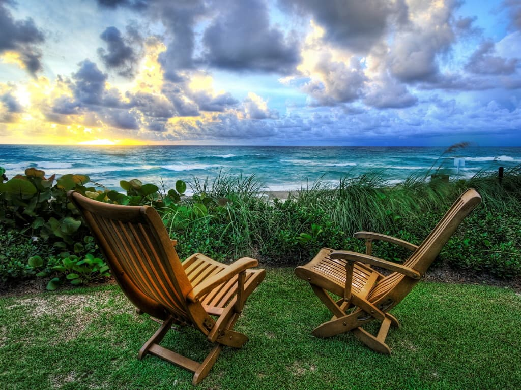 Relaxing by The Ocean